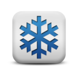 117598 matte blue and white square icon natural wonders snowflake3 sc37