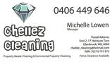Business card  chellez cleaning