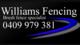 Williams brush fencing