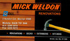 Mick Weldon Renovations